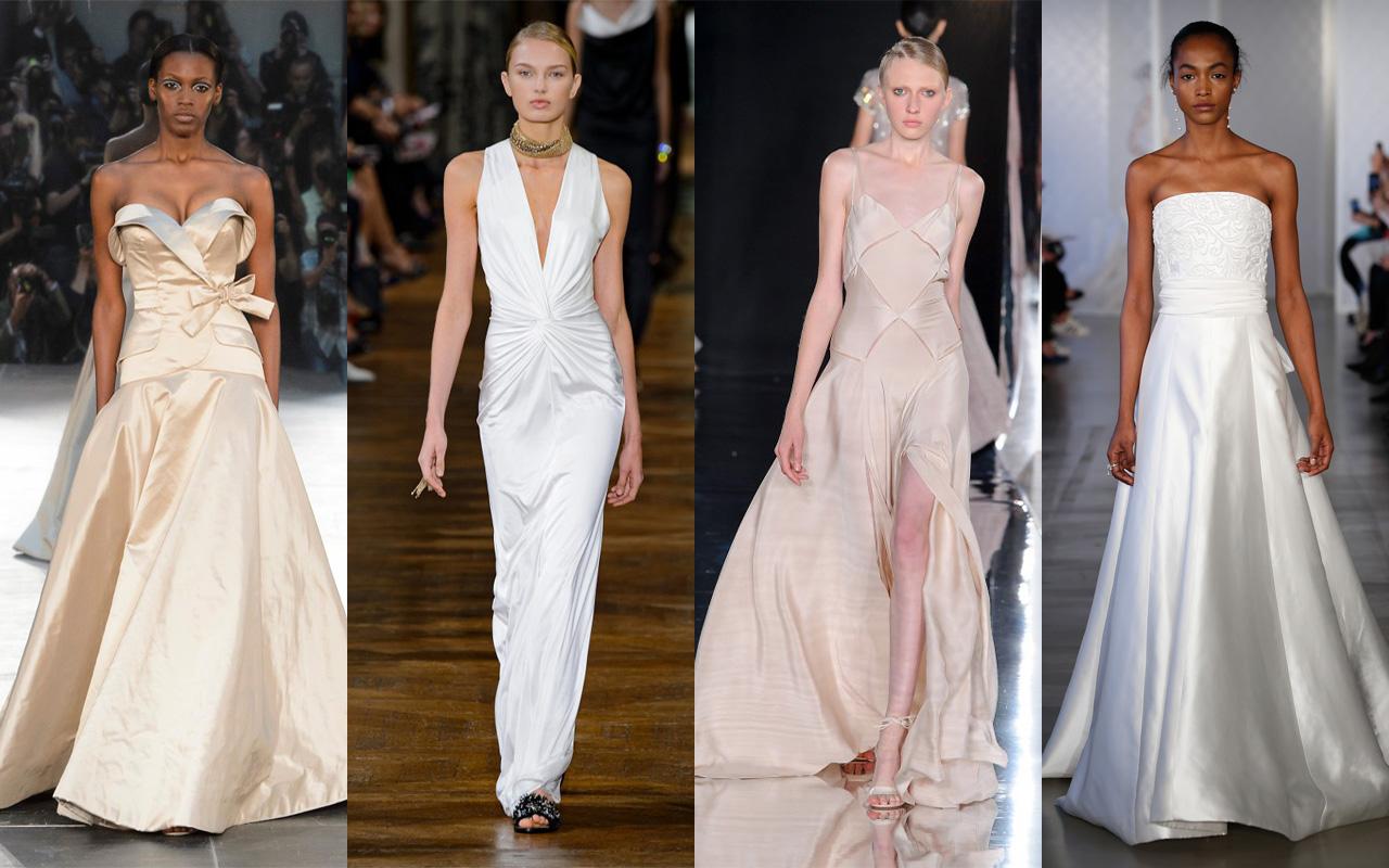 0f1951839931 Un abito da sposa scivolato in raso si adatta a corpi più esili che possono  permettersi di esaltare le forme scegliendo volumi contenuti ma si possono  ...